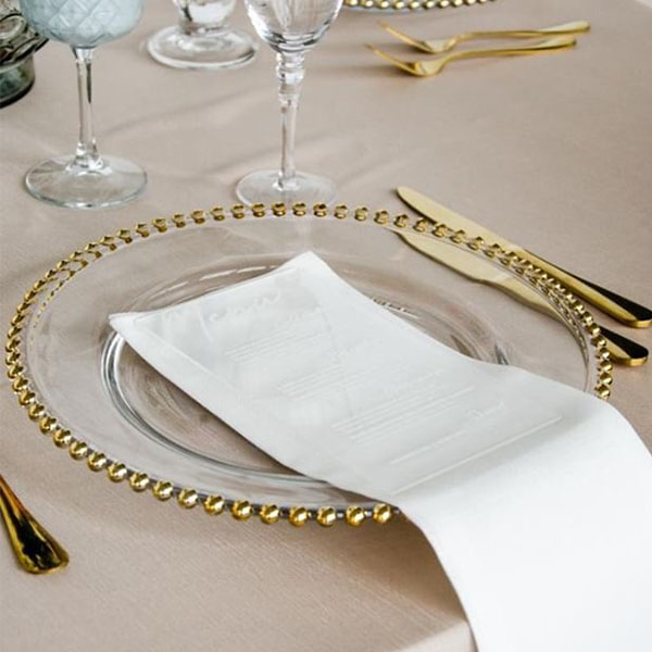 Charger Plates & Glassware