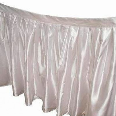 TABLE SKIRT WHITE