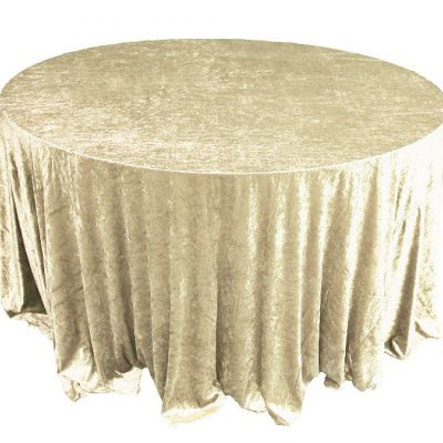 CRUSHED VELVET TABLE CLOTH GOLD