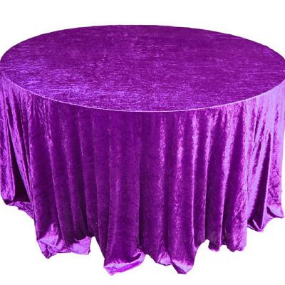CRUSHED VELVET TABLE CLOTH PURPLE