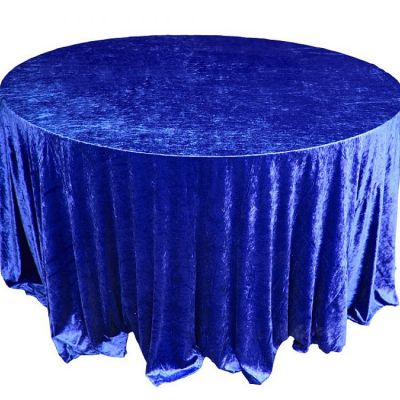 CRUSHED VELVET TABLE CLOTH ROYAL BLUE