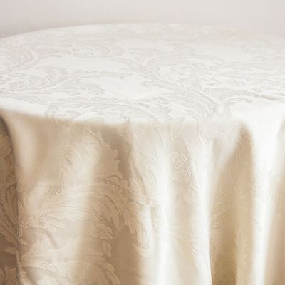 DAMASK 120 TABLECLOTHS IVORY