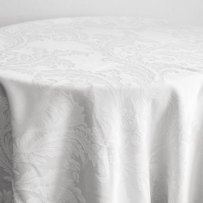 DAMASK 120 TABLECLOTHS WHITE