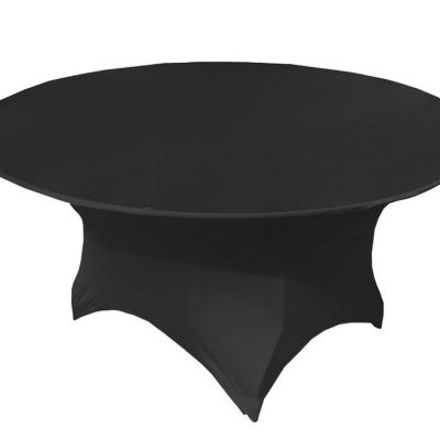 ROUND LYCRA TABLE CLOTHS BLACK