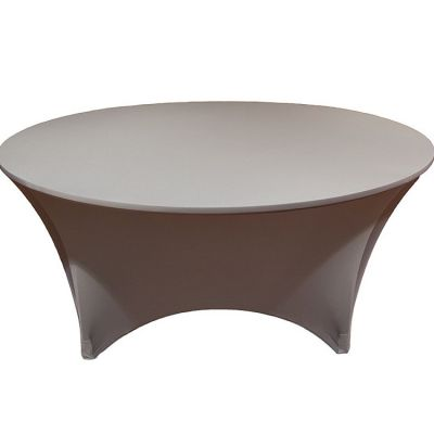 ROUND LYCRA TABLE CLOTHS CHOCOLATE
