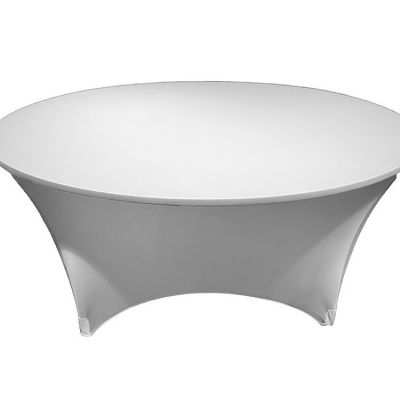 ROUND LYCRA TABLE CLOTHS WHITE