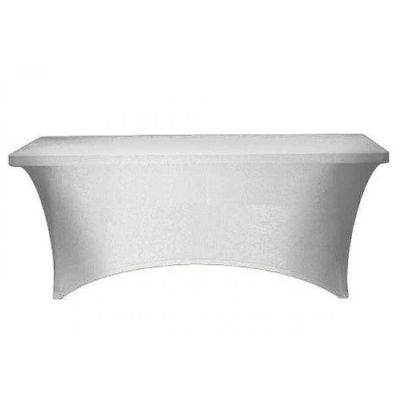 RECTANGLE LYCRA TABLE CLOTHS WHITE
