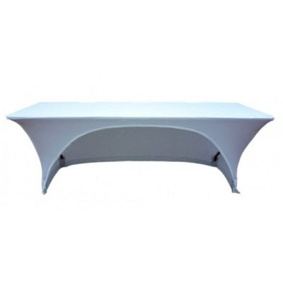 RECTANGLE LYCRA TABLE CLOTHS WITH ARCH WHITE