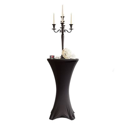 Lycra Cocktail Table Covers - Size A - Black