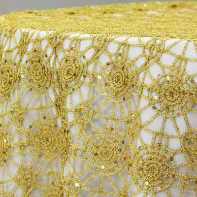 CHEMICAL LACE OVERLAY GOLD