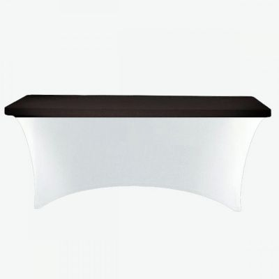 RECTANGLE LYCRA TABLE CLOTHS TOPPER BLACK