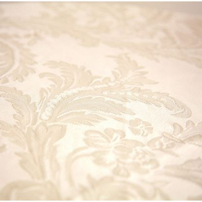 DAMASK 90 X 90 TABLECLOTHS IVORY