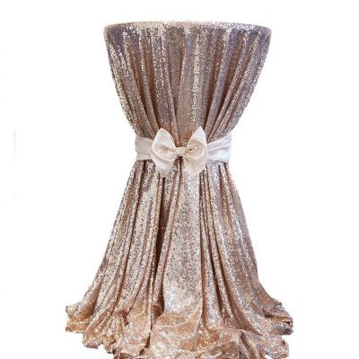 Sequin 120 Table Cloth - Champagne