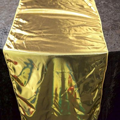PREMIUM LAME TABLE RUNNERS GOLD