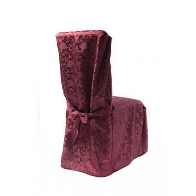 Dining Chaircovers with Ties RJ03 - Burgundy