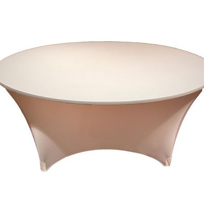 SPANDEX LYCRA ROUND TABLE CLOTH IVORY