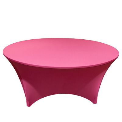 SPANDEX LYCRA ROUND TABLE CLOTH HOT PINK