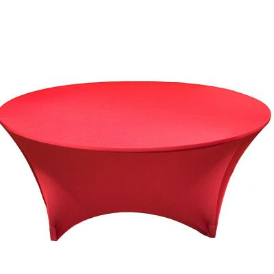 SPANDEX LYCRA ROUND TABLE CLOTH RED