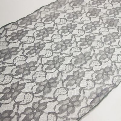 LACE TABLE RUNNER DARK SILVER