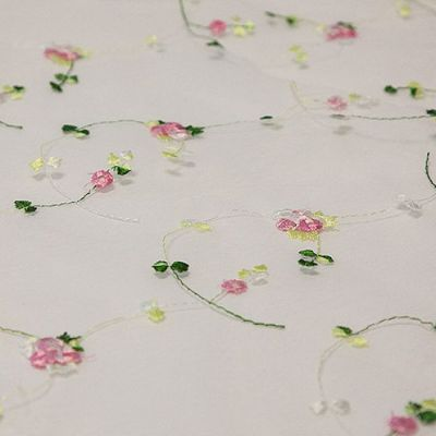 FLORAL EMBROIDED TABLE OVERLAY