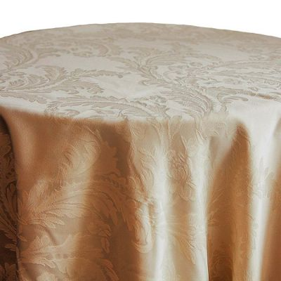 DAMASK 132 TABLECLOTH GOLD
