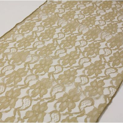LACE TABLE RUNNER ANTIQUE GOLD