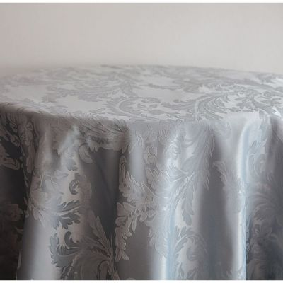 DAMASK 132 TABLECLOTHS SILVER