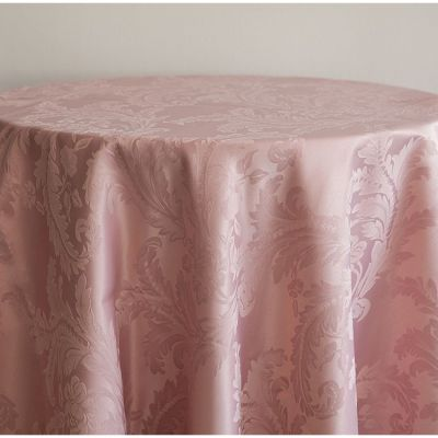 DAMASK 90 X 90 TABLECLOTHS BLUSH PINK