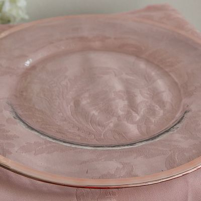 CHARGER PLATE ROSE GOLD RIMMED GP-0213