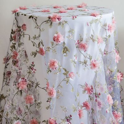 BLOSSOM FLORAL OVERLAY 90X90