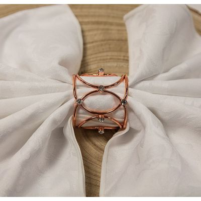 CROWN JEWELS NAPKIN RINGS ROSE GOLD