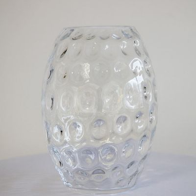 VASE BUBBLE GLASS 28CM HEIGHT 141965