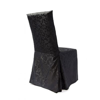 DAMASK DINING CHAIR COVERS RJ04 BLACK