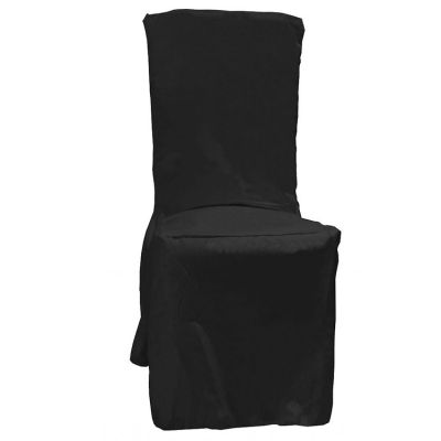 POLY VISA DINING CHAIR COVERS BLACK