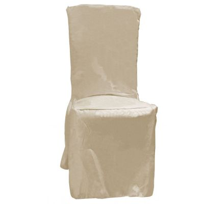 POLY VISA DINING CHAIR COVERS IVORY