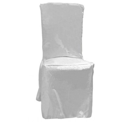 POLY VISA DINING CHAIR COVERS WHITE