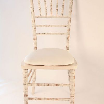 SPANDEX SEAT PAD COVER IVORY