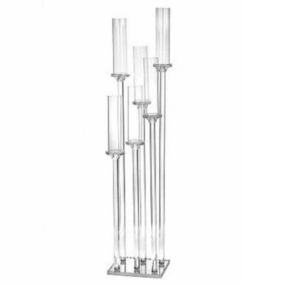 CRYSTAL GLASS 6 CANDLE HOLDER CLT305