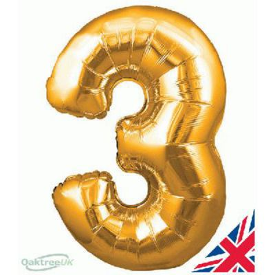 Balloon Number 3 - Gold