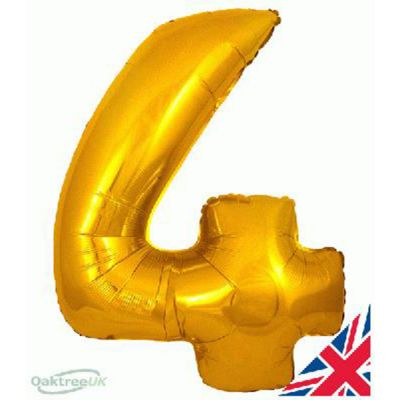 GOLD BALLOON NUMBER 4
