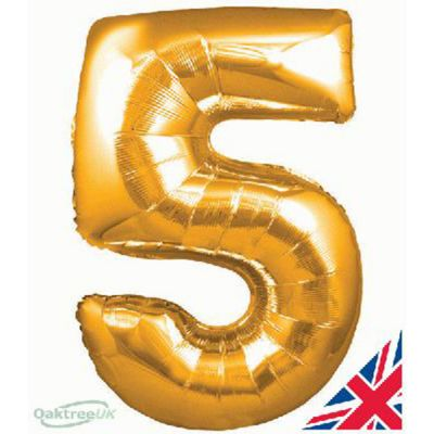 GOLD BALLOON NUMBER 5