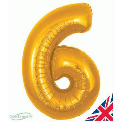 GOLD BALLOON NUMBER 6