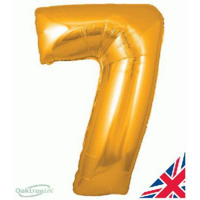 GOLD BALLOON NUMBER 7