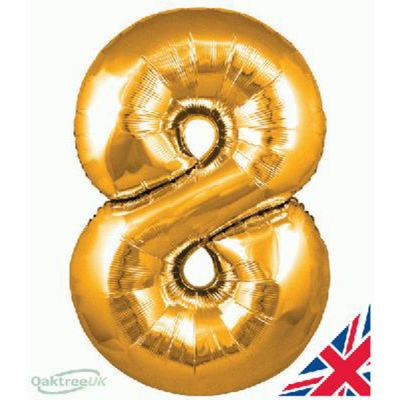 GOLD BALLOON NUMBER 8