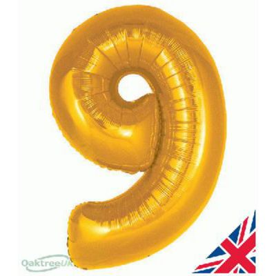 GOLD BALLOON NUMBER 9