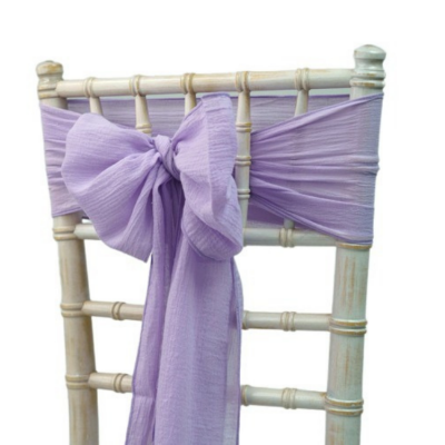 CHEESECLOTH SASH - LILAC