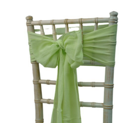 CHEESECLOTH SASH - PISTACHIO