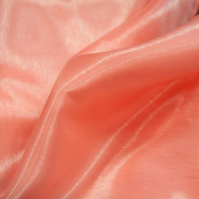 SILK ORGANZA FABRIC CORAL