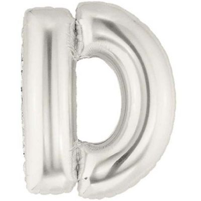 Alphabet Balloon D - Silver