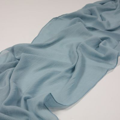 CHEESECLOTH TABLE RUNNER DUSTY BLUE